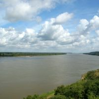 Mississippi River, looking north from Natchez, Натчес
