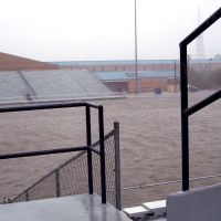 High School and Football field during storm, Паскагоула