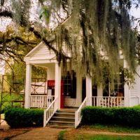 USA, lentrée de la Plantation de Greenwood avec mousse espagnole dans les arbres, Флаууд