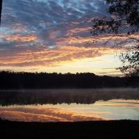Sunrise over Turkey Fork Lake, DeSoto National Forest, Mississippi, Хармони