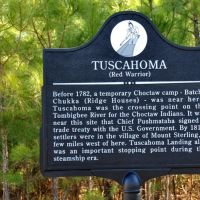 """Tuscahoma """"Red Warrior"""" Historical Marker (located SE of Mt. Sterling beside CR27 near the Tombigbee River), Хармони"""