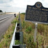 """""""The Rooster Bridge"""" Historical Marker (located near west end of river bridge thats across Tombigbee River on Highway 80), Хармони"""