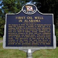 Site of 1st Production Oil Well in Alabama at Gilbertown, AL, Хикори