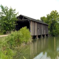 Alamuchee Bellamy Covered Bridge on the UWA Campus at Livingston, AL, Хикори