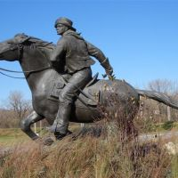 Pony Express Rider; life-size bronze; Harrahs, North Kansas City,MO, Авондейл
