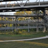 North side of US63 54 bike,pedestrian ramps leading up to pedestrian walkway over the river, Jefferson City, MO, Джефферсон-Сити
