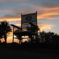 Route 66 rocker at sunset, Диксон