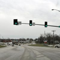 Potter Ave and Baltimore St intersection, Kirksville, Mo., Nov., 2010, Кирксвилл
