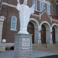 Christ of the Highway statue, Immaculate Conception Church, Jefferson City, MO, Клэйтон