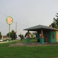 Old Sinclair Gas Station in Redding, IA, Олбани (Рэй Кантри)
