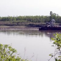 Barge on Missouri River, Олбани-Джанкшн