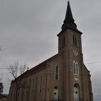 Sacred Heart Catholic church, Rich Fountain, MO, Олбани-Джанкшн
