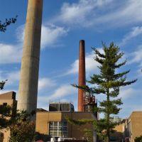 smoke stacks, Missouri S&T, Rolla, MO, Ролла