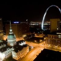 St. Louis viewed from 23rd floor of  Hilton hotel, Сент-Луис
