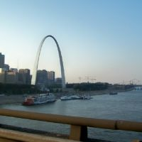 St Louis, Missouri with Mississippi Queen in foreground., Сент-Луис