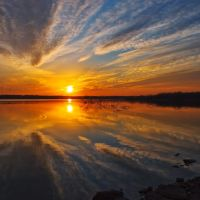 Kansas Sunset - Hillsdale Lake, Харвуд