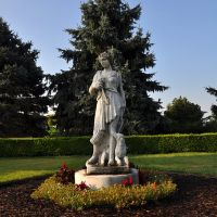 Statue of Diana/Artemis in Nathanael Greene Park, Харвуд