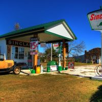 Route 66 Replica Gas Station, Харвуд