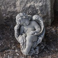 sleeping cherub, St Joseph Catholic Church, Westphalia, MO, Хиллсдал