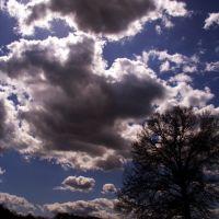 Heavy backlit clouds, Шревсбури