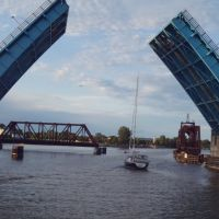 Liberty Bridge Opening, Bay City, Michigan, Бэй-Сити