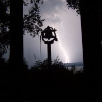 Lightning Strike Over Lake Leelanau, Волф Лак