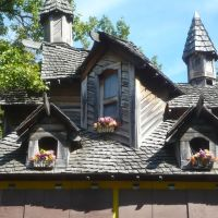 Rooftop at the 17th century villlage of the Michigan Renaissance Festival near Holly (Detroit) Michigan USA, Гудрич