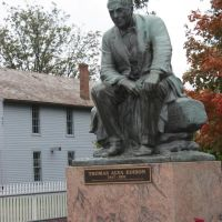 Edison Statue and a replica of his lab. Ford Museum Detroit MI, Дирборн
