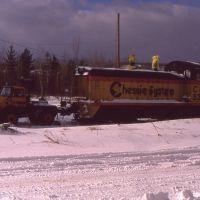 Locomotive at Hatchs Crossing-1989/90, Есканаба