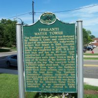 Historical Marker: Ypsilanti Water Tower, Ипсиланти