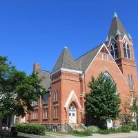 First United Methodist Church, (1892), 209 Washtenaw Avenue, Ypsilanti, Michigan, Ипсиланти