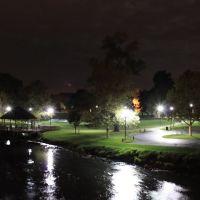 Riverside Park at Night, Depot Town, Ypsilanti, Michigan, Ипсиланти