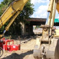 Construction on Railroad Viaduct Underpass on M-43 in Kalamazoo, MI, Иствуд