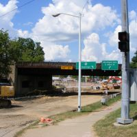 Construction on Railroad Viaduct Underpass on M-43 in Kalamazoo, MI, Каламазу