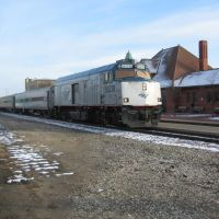 Amtrak Westbound, Kalamazoo, MI, December 2009, Каламазу