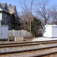 New and Old Signal Boxes for Amtrak at West Main Street, Kalamazoo, MI, Каламазу