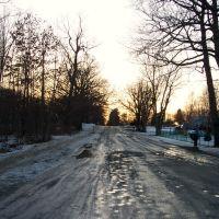 Snow melting, Farrand Road, Маунт-Моррис