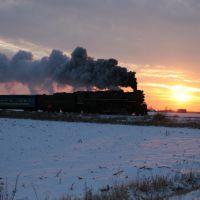 PM 1225 Polar Express North of Owosso, Michigan, November 2005, Монтроз