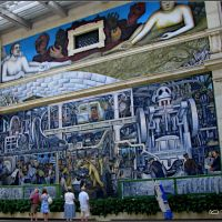 Detroit Art Institute; Diego Rivera Mural (ENLARGE TO SEE DETAILS), Монтроз