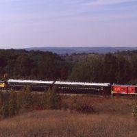 LSRR Train with Lake Leelanau in Background 1990, Мускегон