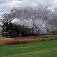 NKP 765 heading for Owosso, MI, October 2011, Норт Мускегон