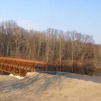 New Bridge in Spring Valley Park, Kalamazoo, MI, Парчмент
