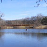 Spring view of Spring Valley Park, Kalamazoo, MI, Парчмент