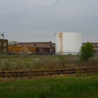 Box Cars and Oil Tanks that will be cut up for scrap at the former KVP Mill, Парчмент