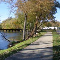 CK&S Bridge across the Kalamazoo River, Parchment, MI, Парчмент