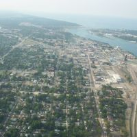 Port Huron, Michigan... from the air, Порт-Гурон