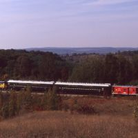 LSRR Train with Lake Leelanau in Background 1990, Сагинав