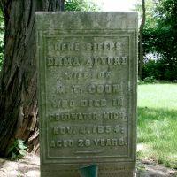 """Here sleeps Emma Alvord"", Trenton, Mi, Саутгейт"