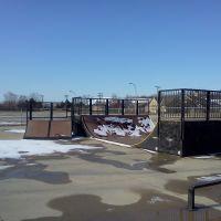 Troy Skatepark in the winter, Трой