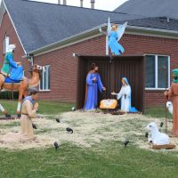 Nativity Scene at Beacon Baptist Church, 21721 Northline Road  Taylor, Michigan, Тэйлор